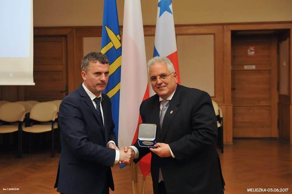 Delegacja Panamy w Wieliczce