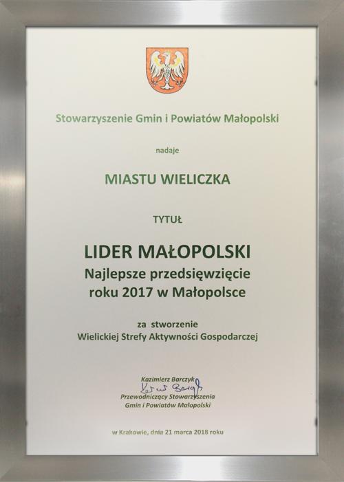 Wieliczka Liderem Małopolski 2017