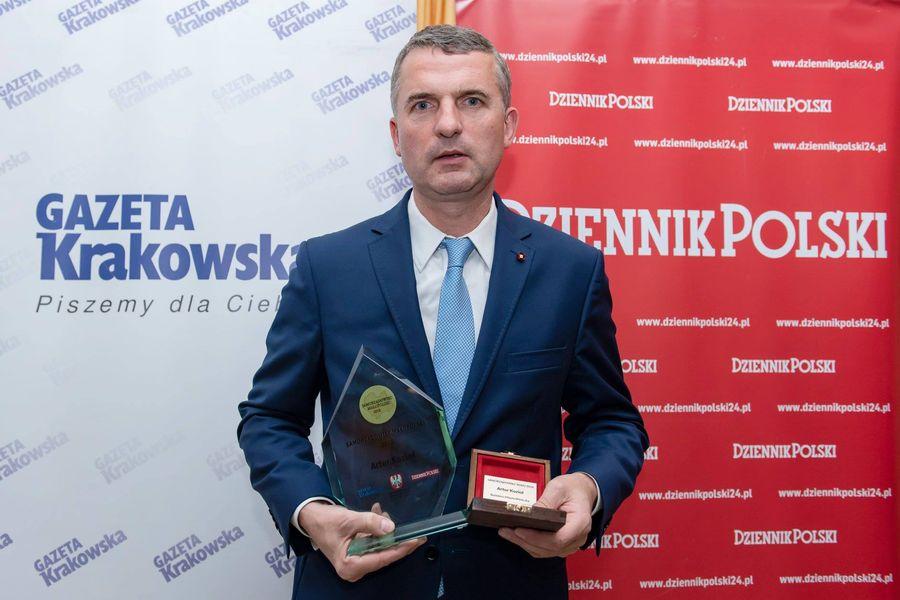 Najlepszy Samorządowiec Małopolski 2018 - Burmistrz Miasta i Gminy Wieliczka Artur Kozioł