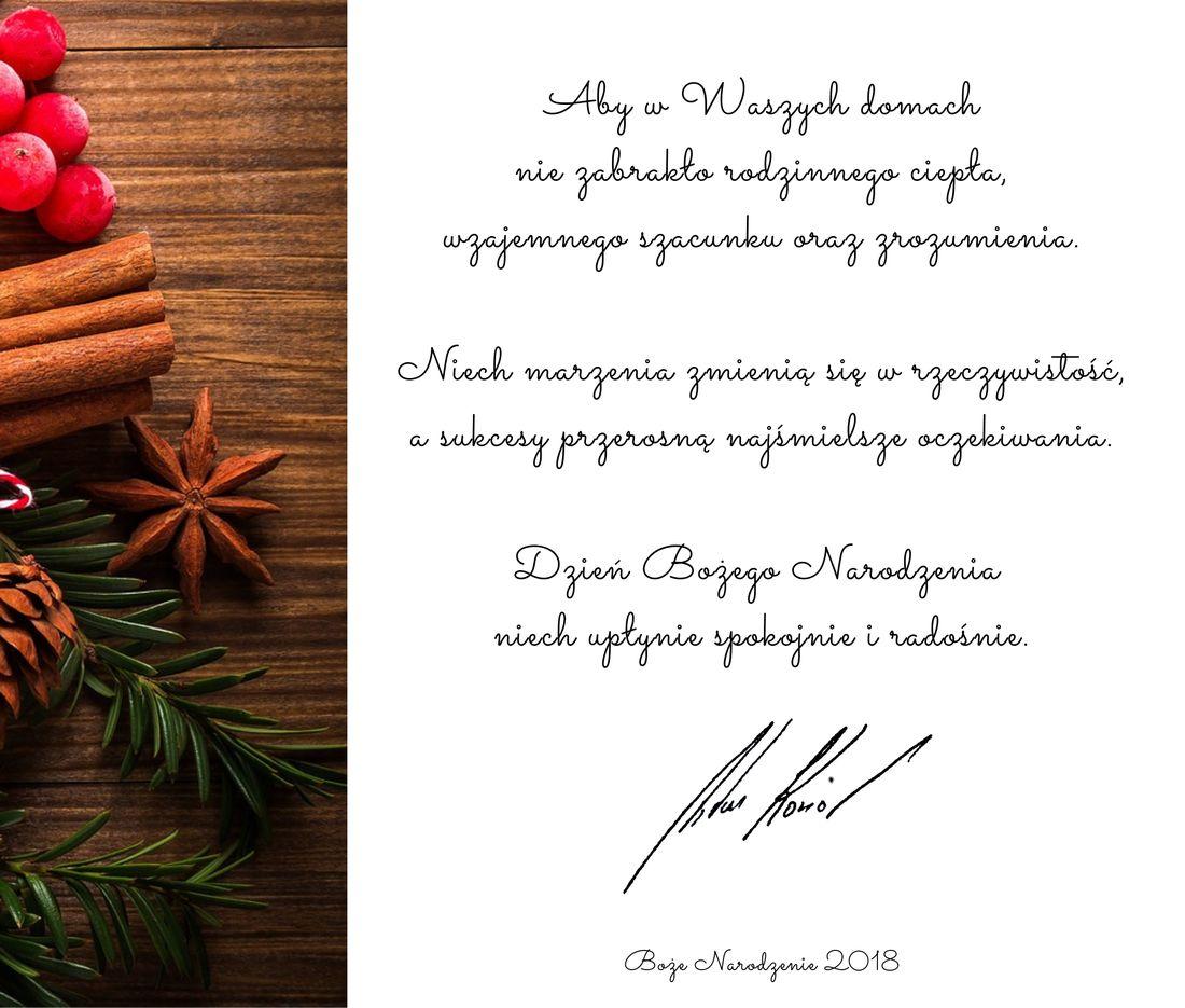 życzenia świąteczne dla mieszkańców Wieliczki