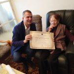 spotkanie burmistrza Wieliczka Artura Kozioła z Marią Perlberger Shmuel i Uri Shmueli w Izraelu