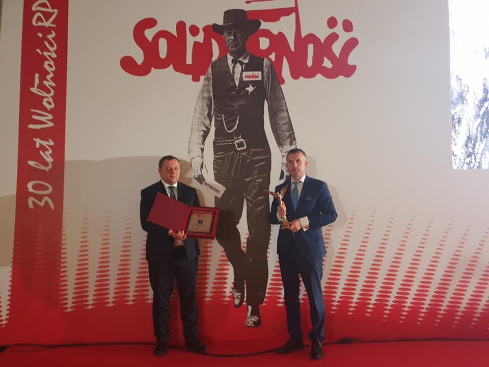 Orzeł Niepodległości dla Gminy Wieliczka 2019 - Artur Kozioł i Piotr Krupa