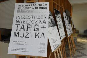 obrona prac inżynierskich studentów 3 roku WA_PK przestrzeń Wieliczka targ-muzyka Artur Kozioł wielicka_mediateka Łukasz Bira