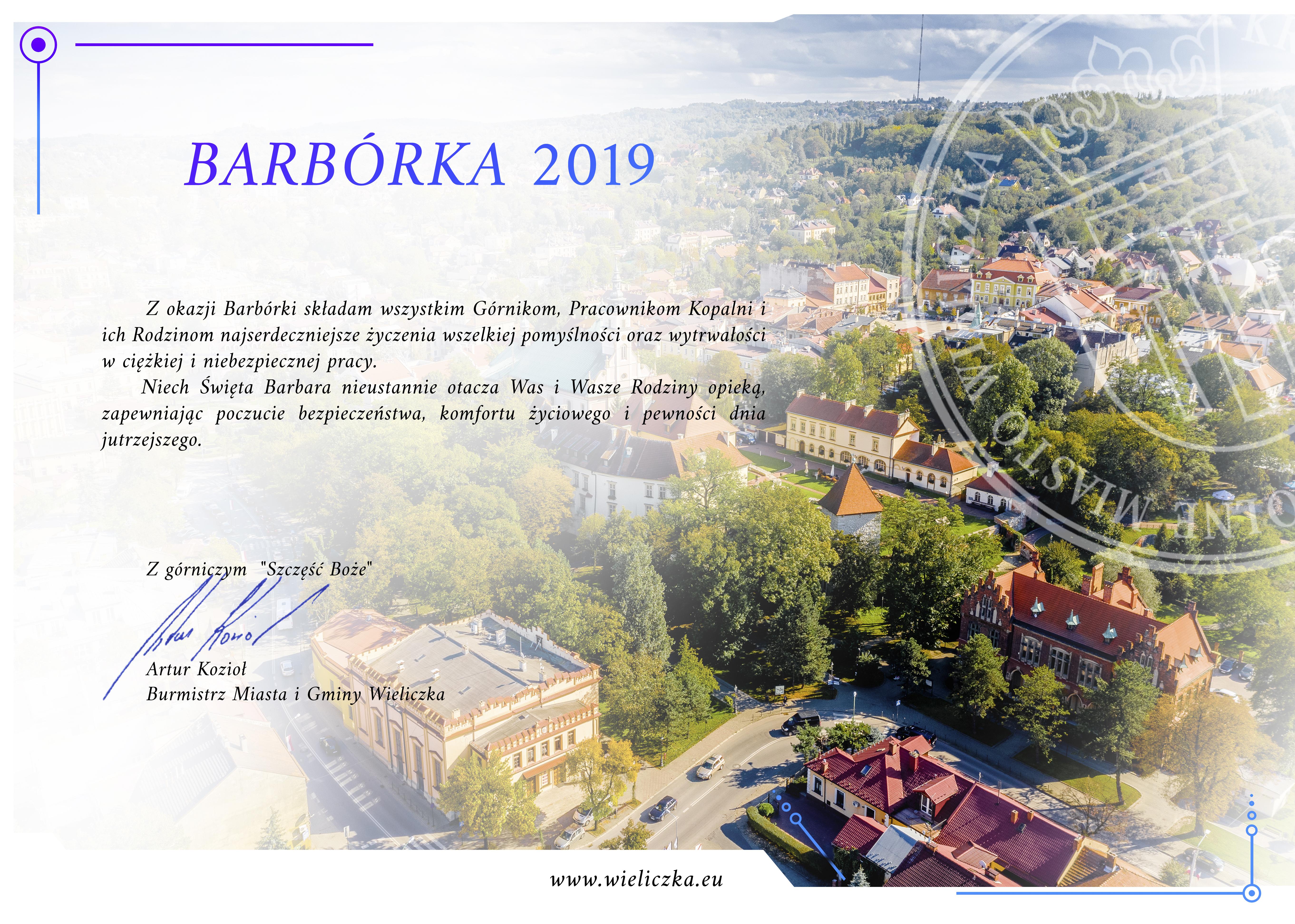 Barbórka 2019 Wieliczka Artur Kozioł