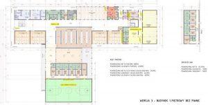 Budowa nowej szkoły podstawowej w Wieliczce ul. Jedynaka projekt