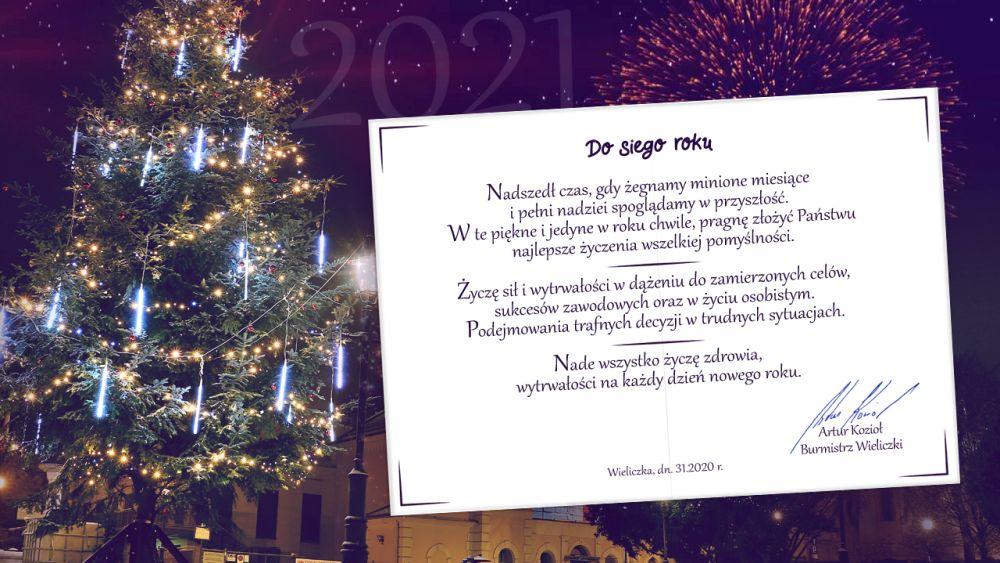 życzenia noworoczne 2021 Wieliczka Artur Kozioł