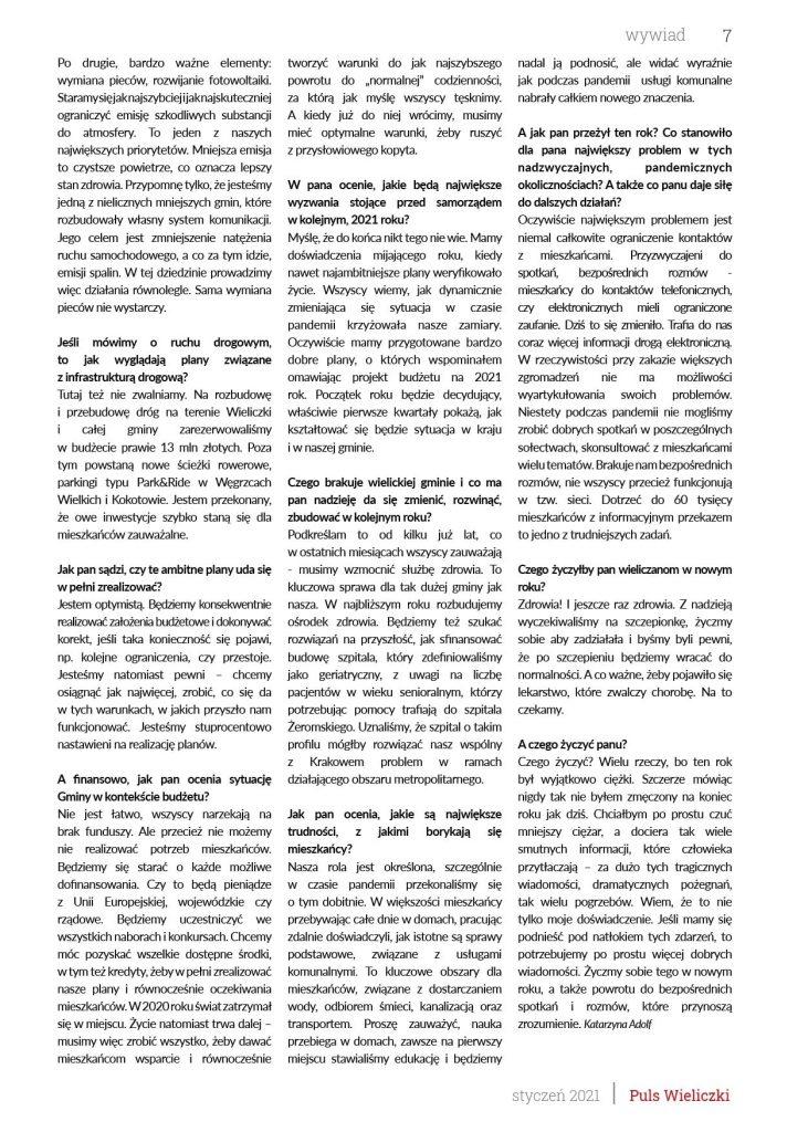 puls Wieliczki styczeń 2021