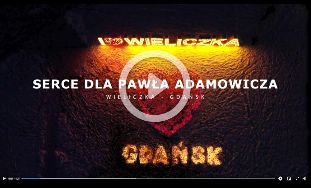 serce dla Pawła Adamowicza Wieliczka Rynek